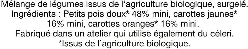 Petits Pois duo de carottes - Ingrédients - fr
