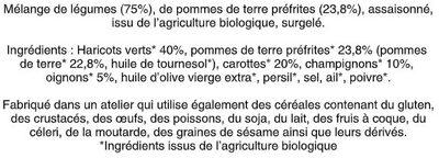 Poêlée à la Parisienne Bio - Ingrédients - fr