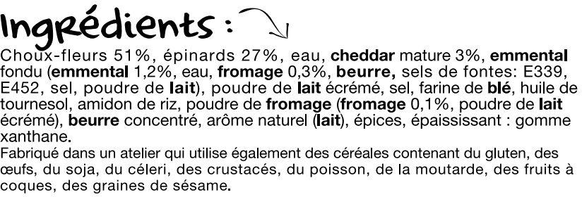La poêlée Fromagère - Ingrédients - fr