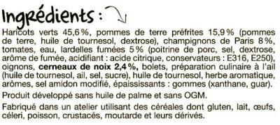 La poêlée à La Périgourdine - Ingrédients