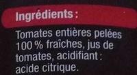 Tomates entières pelées - Ingrédients - fr
