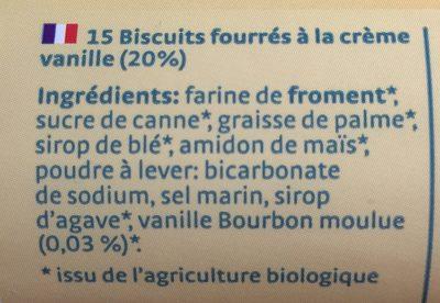 Bio bis vanille - Ingredients