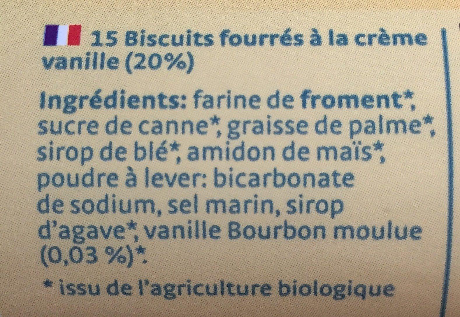 Bio bis vanille - Ingrédients - fr