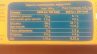 Bio bis vanille - Informations nutritionnelles - fr