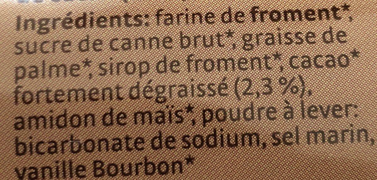 Biobis choc - Ingrédients - fr