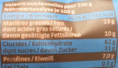 CHOC'O LAIT - Ingredients