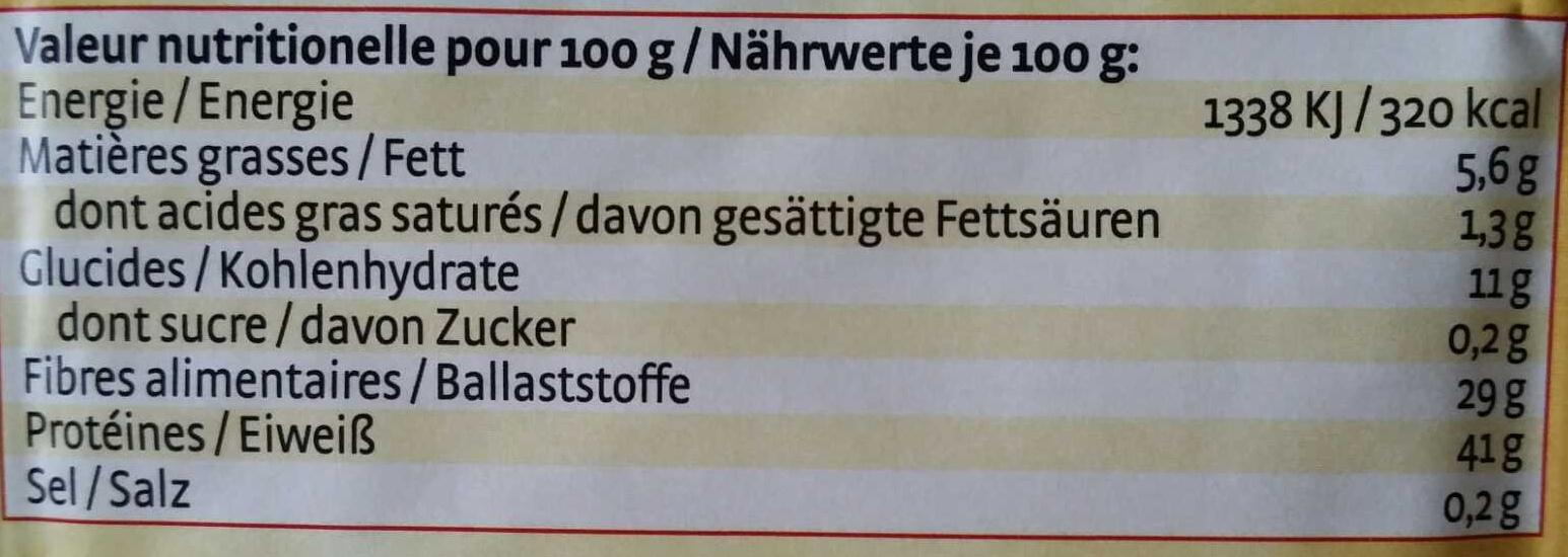 Levure de boulanger - Nährwertangaben - fr