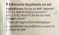 Flûtes au sel - Ingrédients - fr