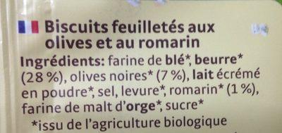 Flûtes Oliver et Romarin - Ingrédients - fr