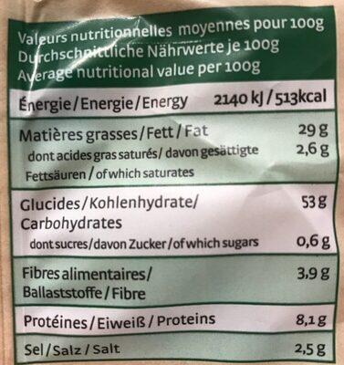 Perles épeautre potage - Valori nutrizionali - fr