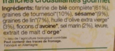 Pain croustillant classic - Ingrédients - fr