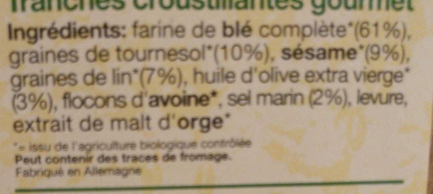 Pain croustillant classic - Ingredients - fr