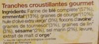 Crusty fromage graines de courge - Ingrédients - fr