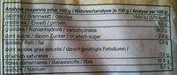 Knäcke au sésame - Valori nutrizionali - fr