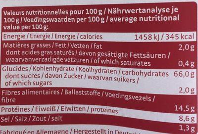 Knäcke à l'Épeautre - Voedingswaarden - fr