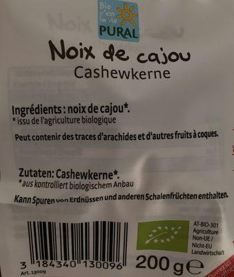 NOIX DE CAJOU - Ingrédients