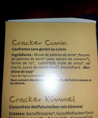 Cracker - Ingrédients