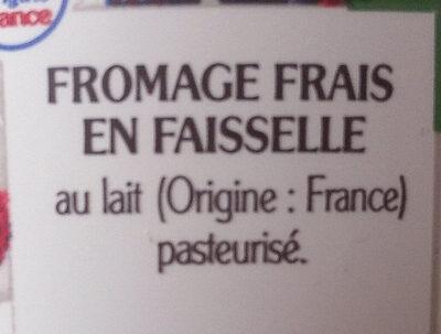 Faisselle - Ingrediënten - fr