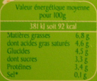 Le Seau de Fromage Blanc (7% MG) 750 g - Voedigswaarden
