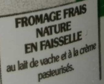 La Faisselle - Ingredients