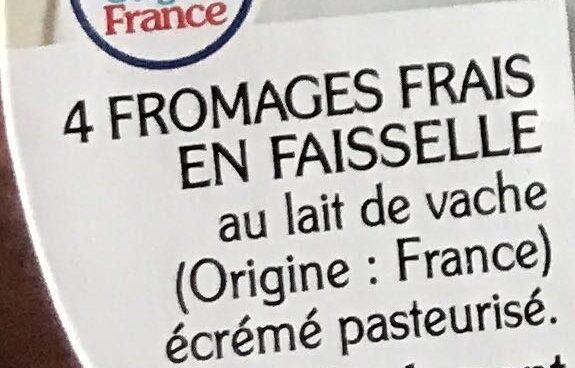 La faisselle 0% - Ingrédients - fr