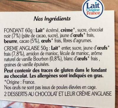 Le fondant au chocolat noir - Ingredients