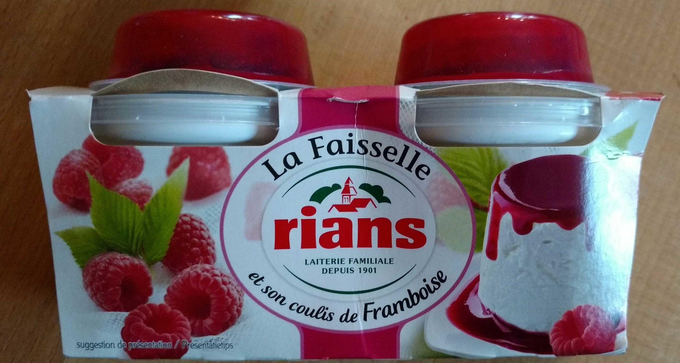 La Faisselle et son coulis de Framboises - Product - fr