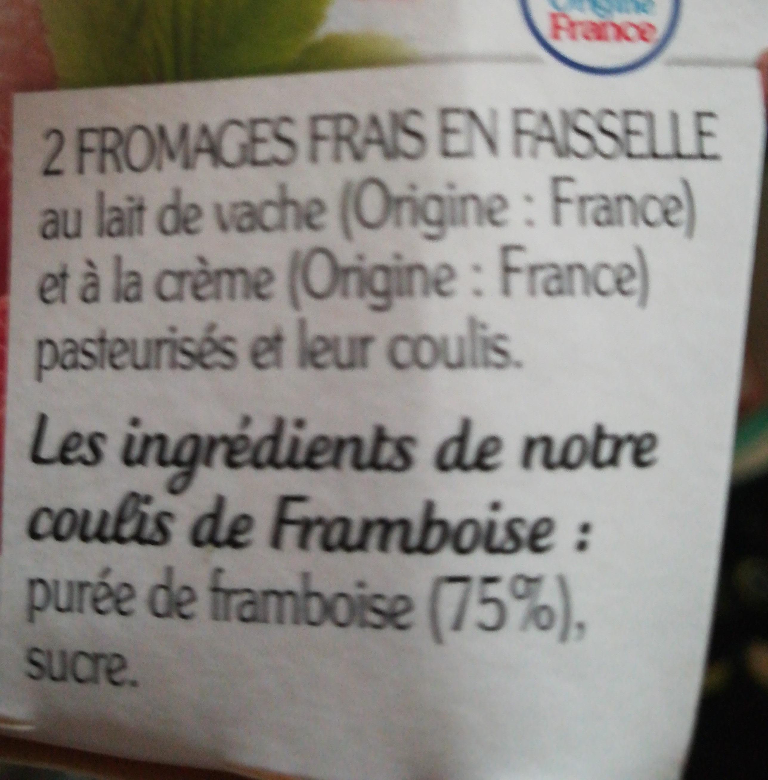 La Faisselle et son coulis de Framboises - Ingrediënten - fr