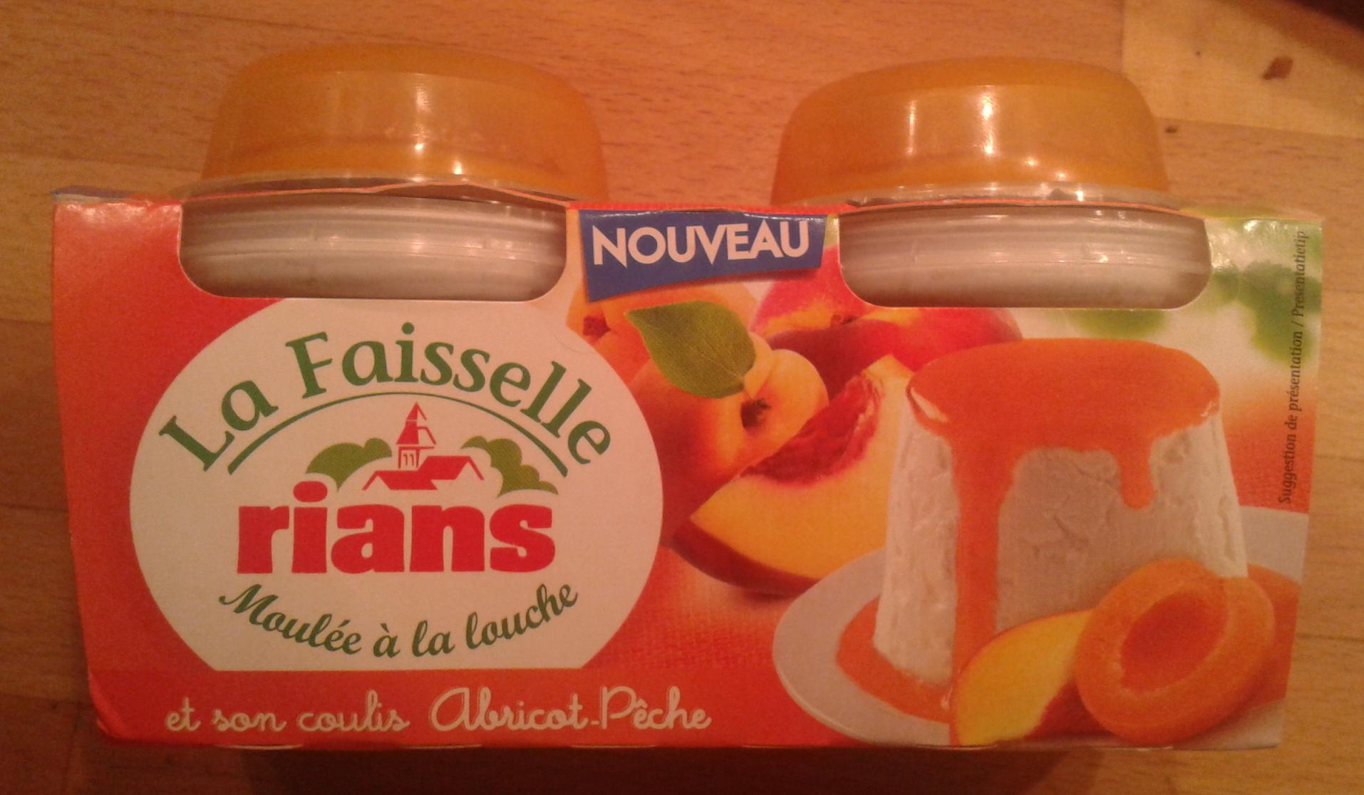 La Faisselle et son coulis Abricot-Pêche - Product - fr