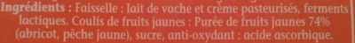La Faisselle et son coulis Abricot-Pêche - Ingrediënten - fr