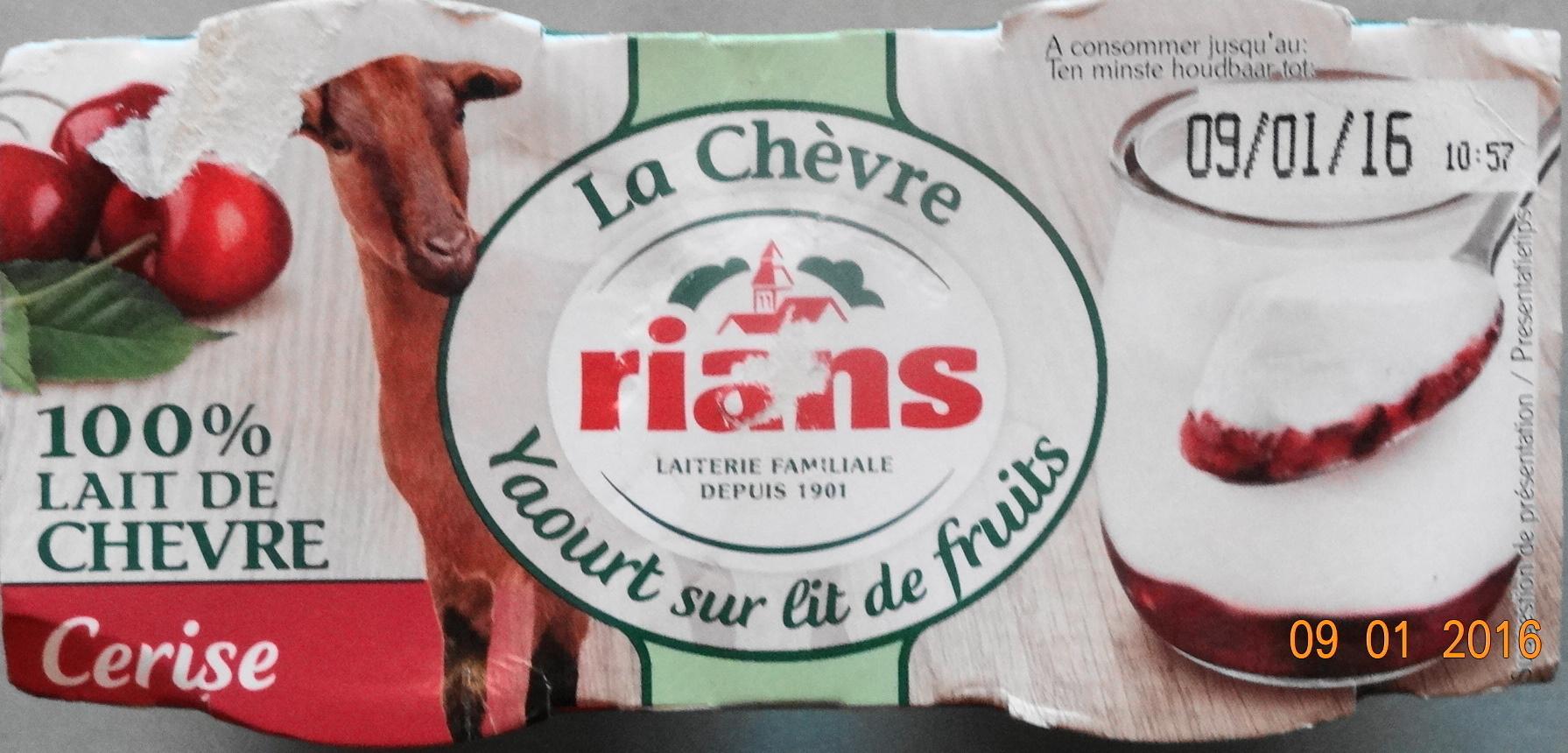 La Chèvre, yaourt sur lit de fruits : cérises - Produit