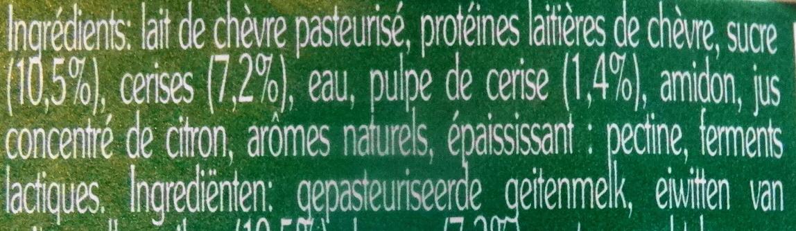 La Chèvre, yaourt sur lit de fruits : cérises - Ingrédients