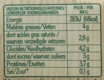 Le Yaourt au lait de Chèvre (Nature) - (5 % MG) - Informations nutritionnelles