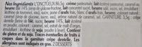 L'onctueux Caramel beurre salé - Ingrediënten
