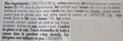 L'onctueux Caramel beurre salé - Ingrédients