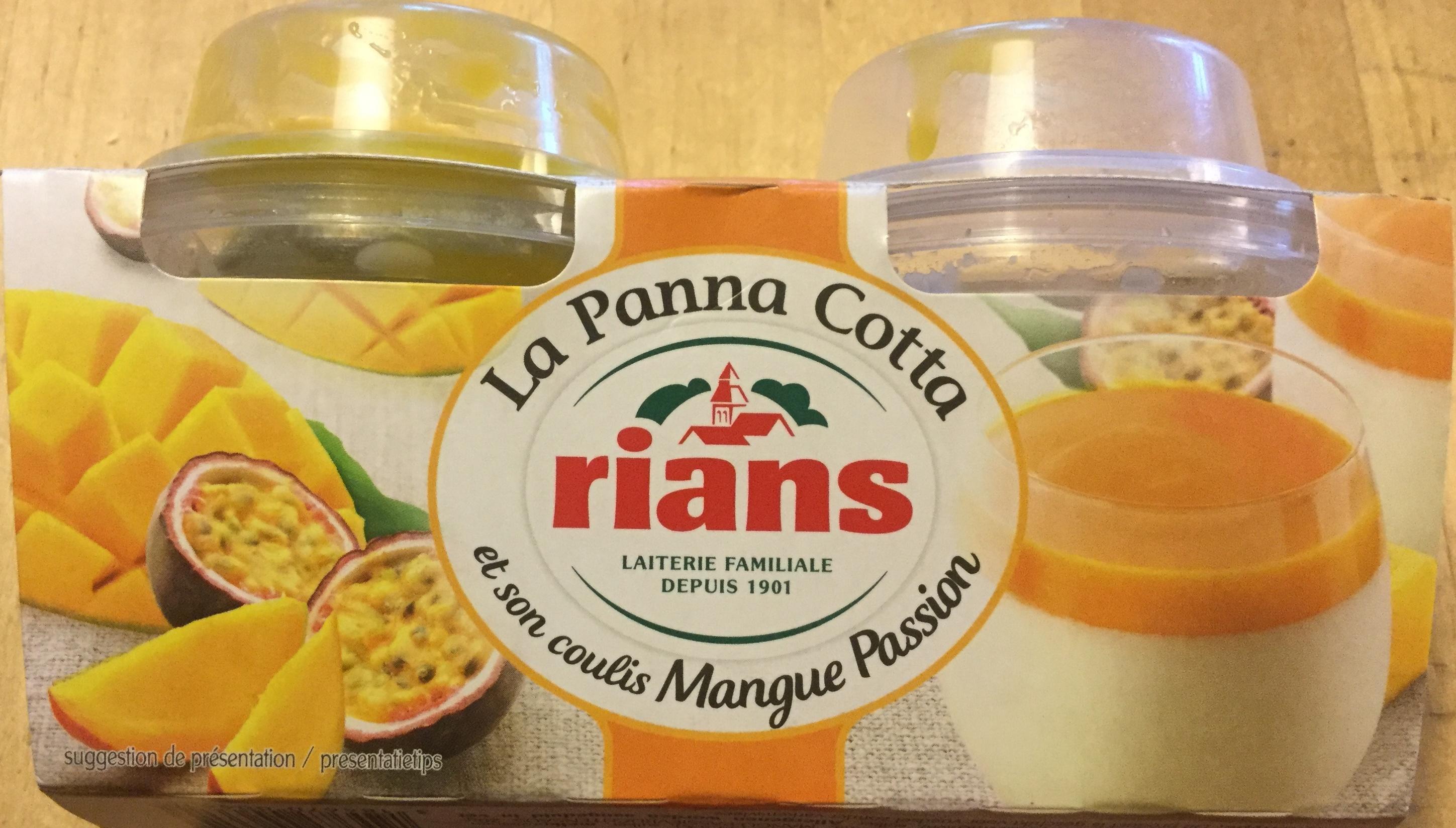 La Panna Cotta  et son coulis mangue passion - Produit