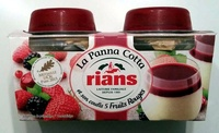 La Panna Cotta et son coulis 5 fruits rouges - Produit