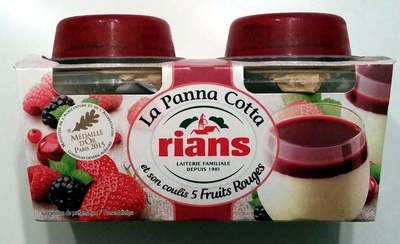 La Panna Cotta et son coulis 5 fruits rouges - Producto