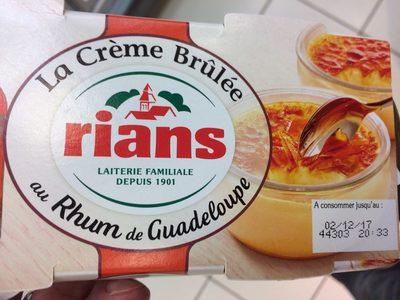 La creme brulée au Rhum de Guadeloupe - Produit