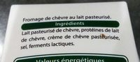 Fromage de Chèvre Doux - Ingrediënten