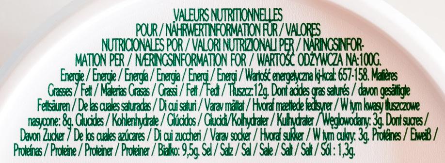 La Cabrette - Voedingswaarden - de