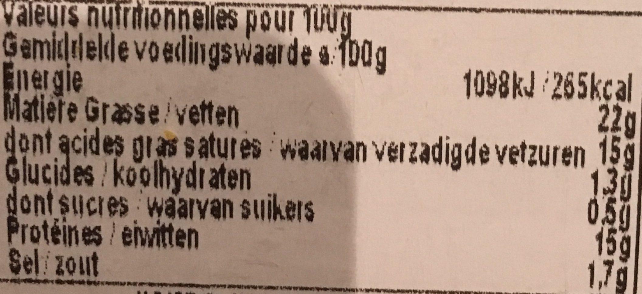 Les roussins - Ingrediënten