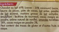 Amandes cacaotees - Ingrédients - fr