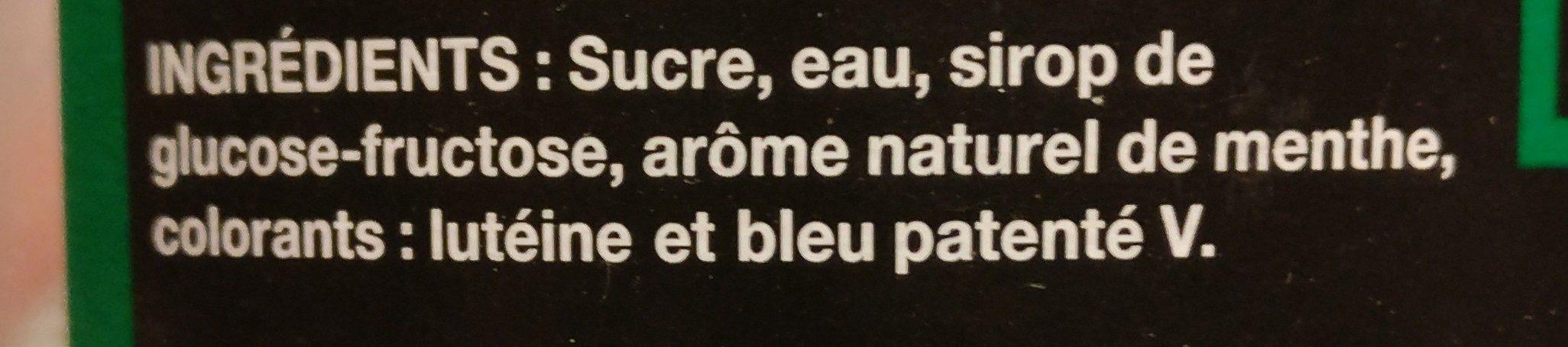Bouteille 1L Sirop Menthe Saxo - Ingredienti - fr