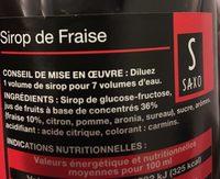 Blle 1L Sirop Fraise Saxo - Ingrediënten - fr