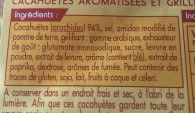 Cacahuète Grillée à Sec - Ingrediënten - fr