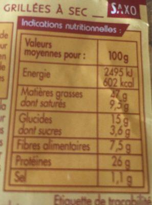 Cacahuète Grillée à Sec - Voedingswaarden - fr