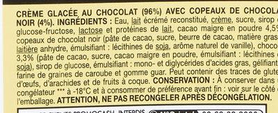 Crème glacée chocolat - Ingrédients - fr