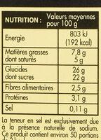 Crème glacée chocolat - Informations nutritionnelles - fr