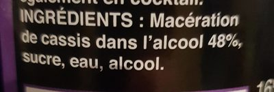 """1L Creme Cassis Saxo 16 °"" - Ingredienti - fr"